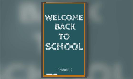Welcome Back Chalkboard Portrait