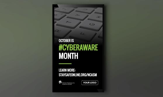 Cyberaware Month Portrait