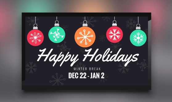 Happy Holidays Ornaments