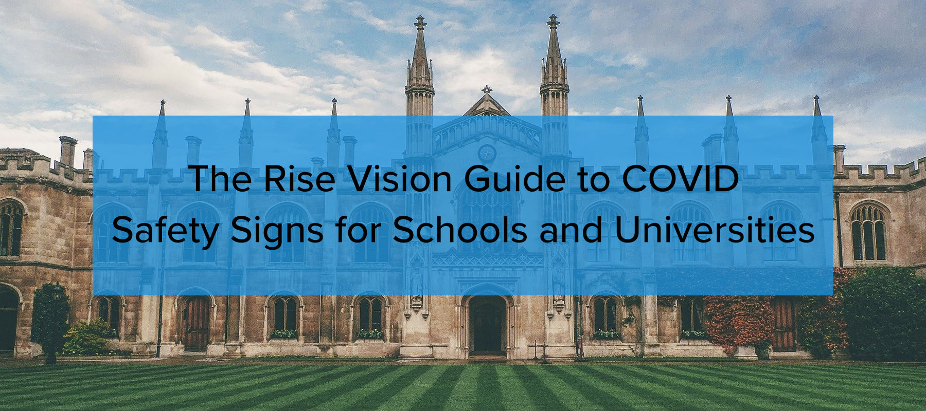 Guide to COVID Safety Signs for Schools and Universities