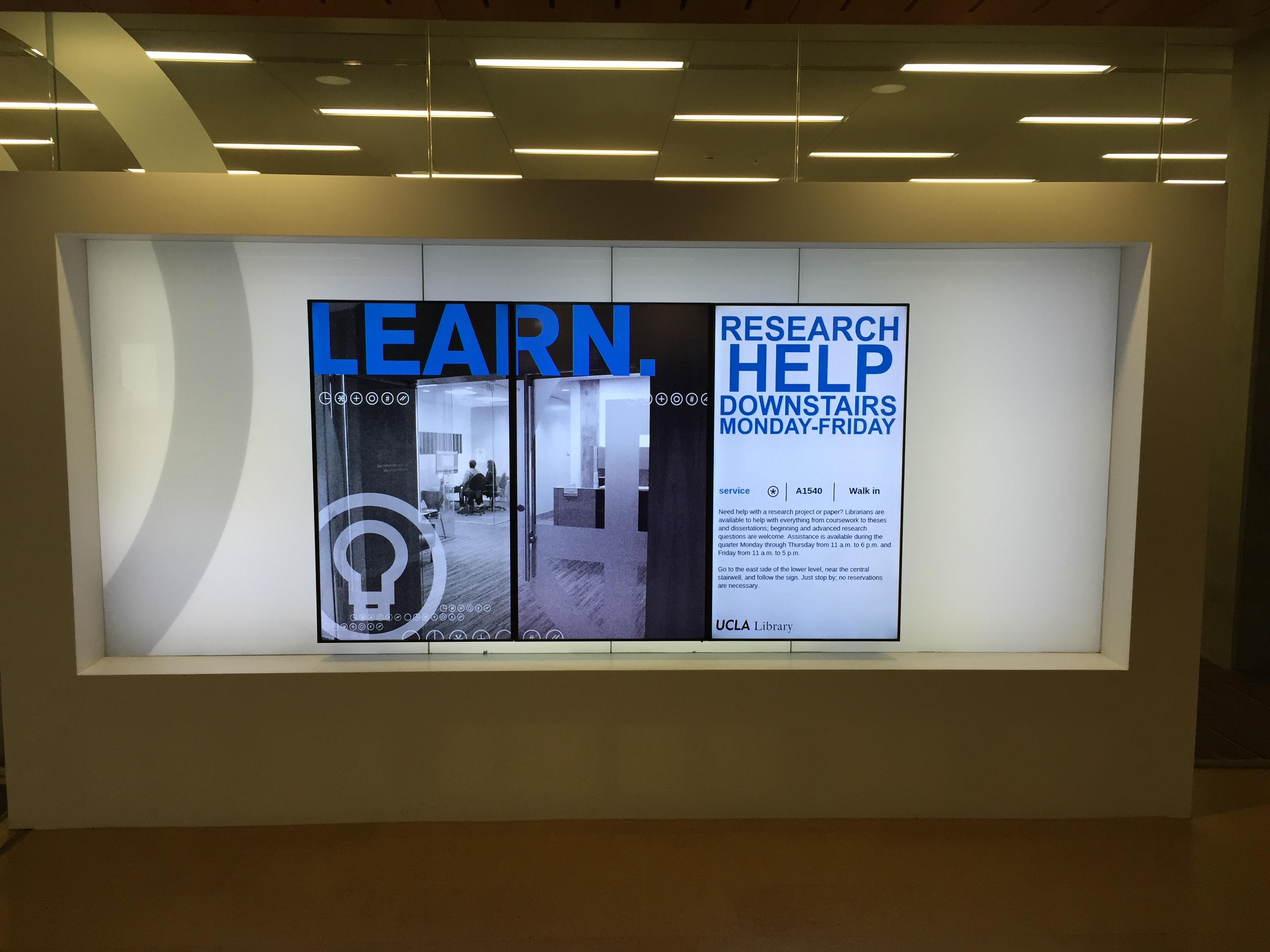 digital signage for schools