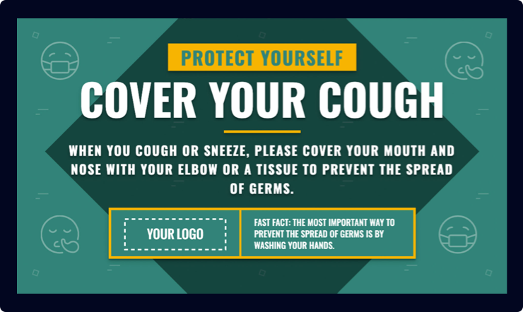 Cover Your Cough Digital Signage Template