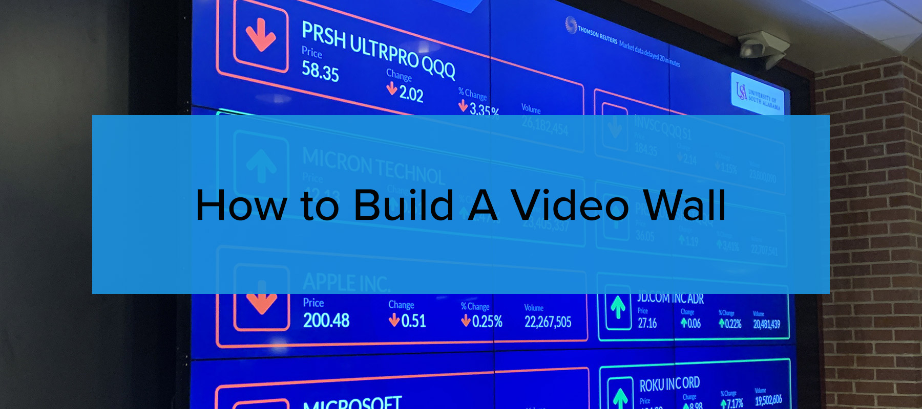 How to build a video wall