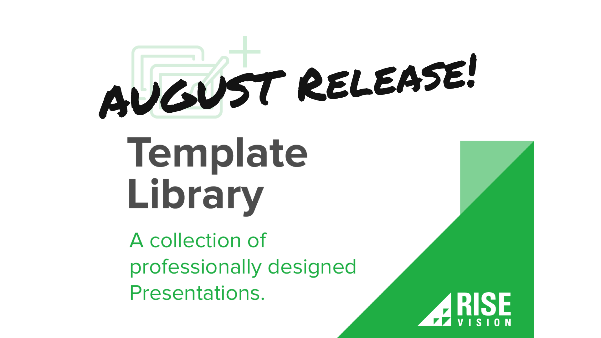 template library digital signage