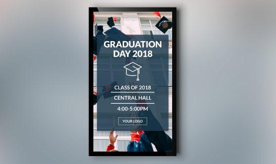 Graduation for digital signage portrait