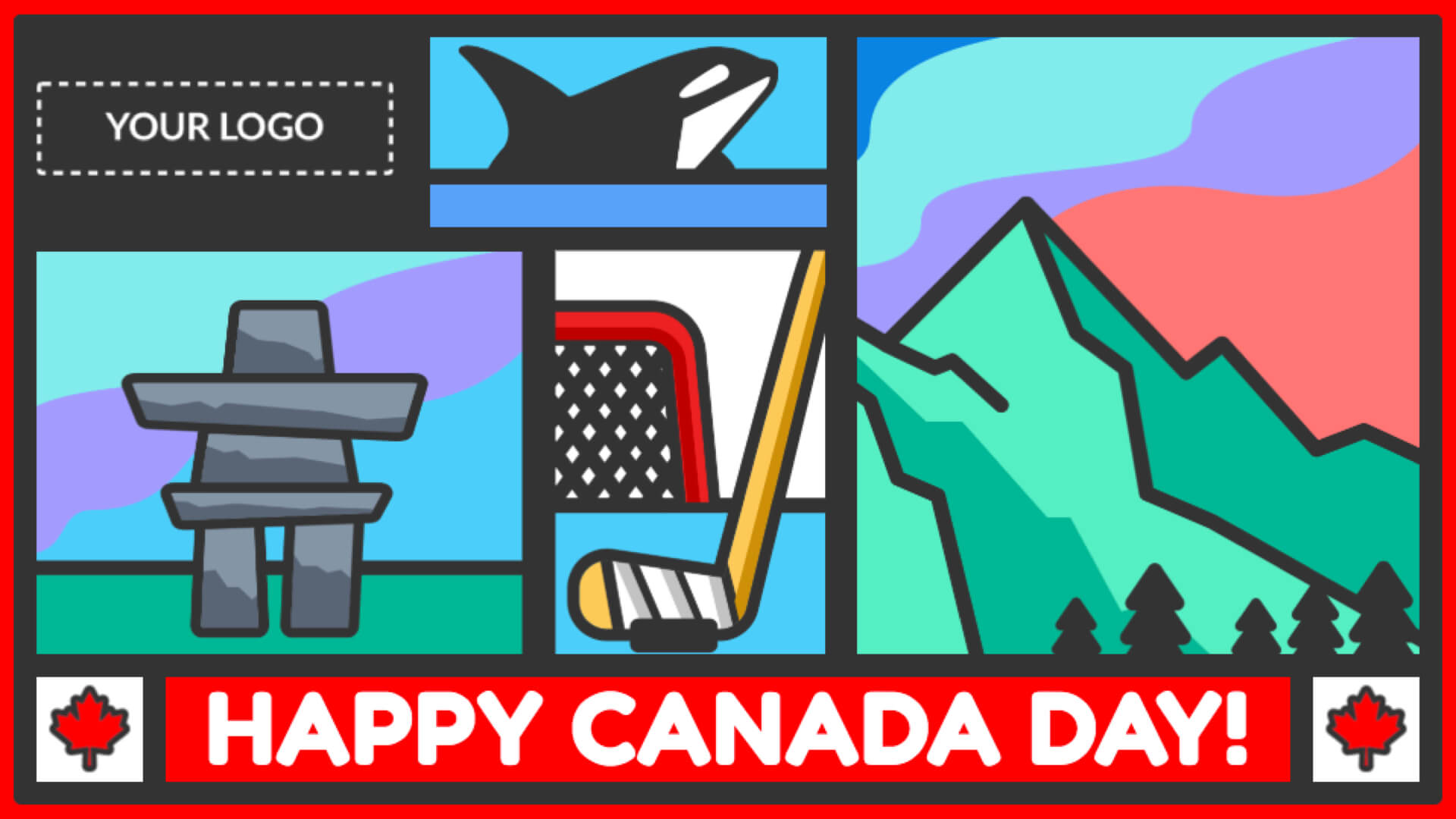 Canada Day Digital Signage Template