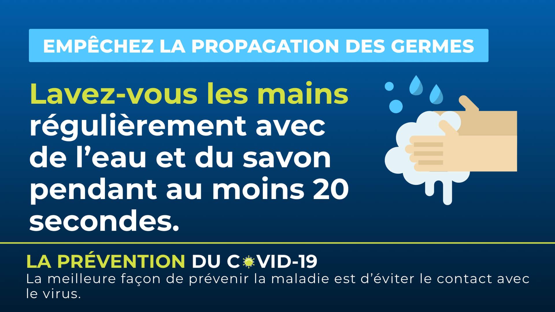 En Français - Conseils COVID-19 Digital Signage Template
