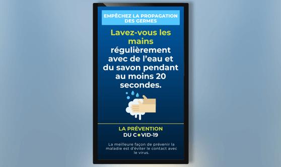 En Français - Conseils COVID-19 - Orientation Portrait