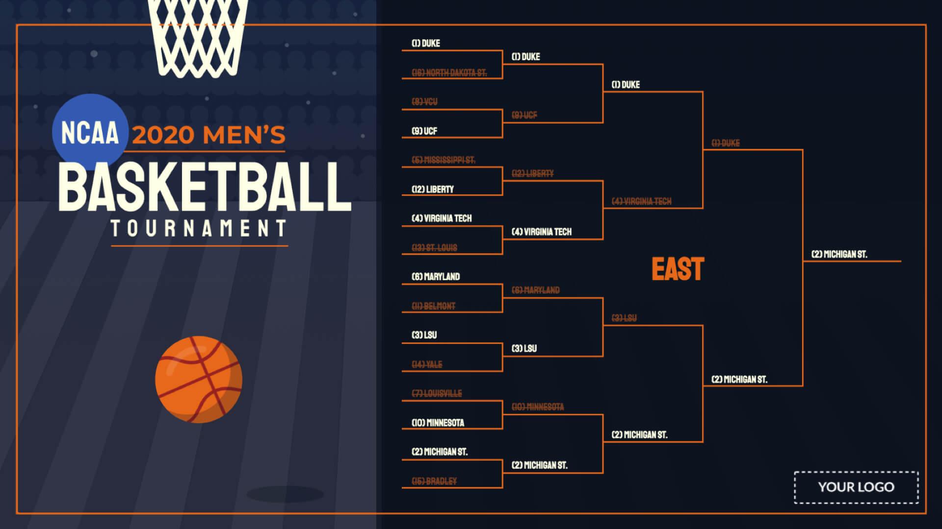 2020 NCAA Men's Tournament Digital Signage Template
