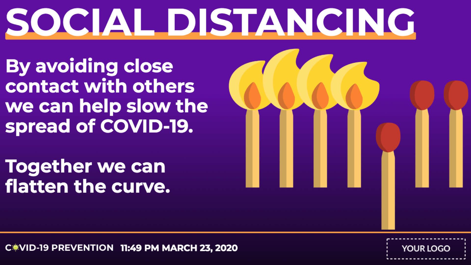 COVID-19 Social Distancing Digital Signage Template