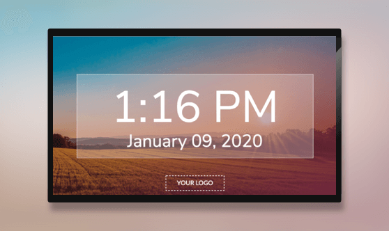 Fullscreen Time and Date