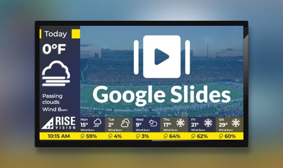 Google Slides and Weather