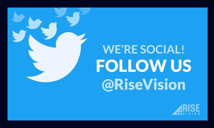 Twitter Promotion Digital Signage Template