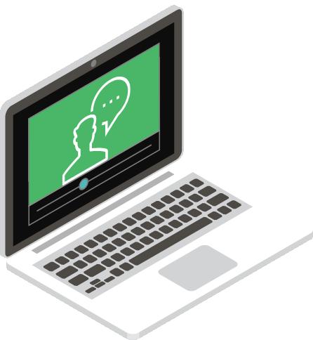 laptop showing webinar